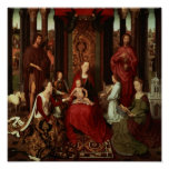 Mystic Marriage of St. Catherine and Other Saints Poster