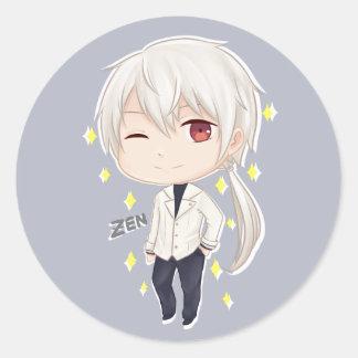 Mystic Messenger Chibi Zen Classic Round Sticker