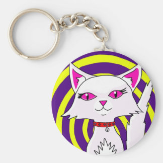 Mystic Mog (Cabbages of Doom) Basic Round Button Key Ring