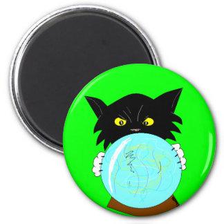 Mystic Molly Spiritualist Cat 6 Cm Round Magnet