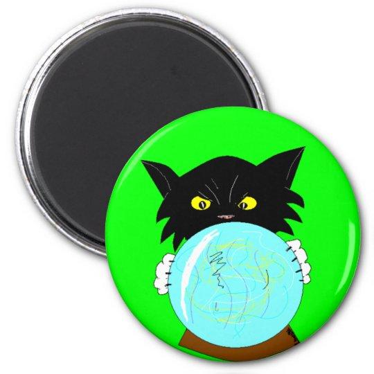 Mystic Molly Spiritualist Cat Magnet