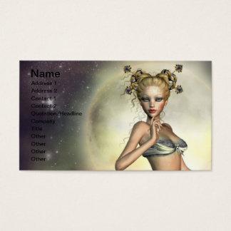 Mystic Moon Mermaid Business Card