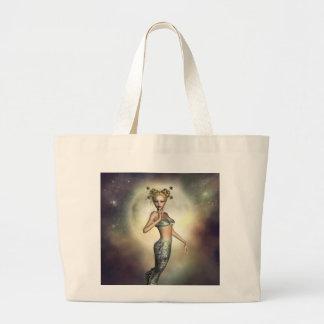 Mystic Moon Mermaid Jumbo Tote Bag