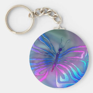 Mystic Moth Basic Round Button Key Ring