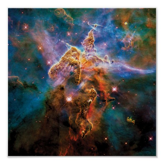 Mystic Mountain Carina Nebula Hubble Space Photo Poster