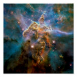 Mystic Mountain Carina Nebula Hubble Space Photo Poster