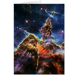 Mystic Mountain in Space NASA Card