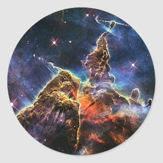 Mystic Mountain in Space NASA Classic Round Sticker