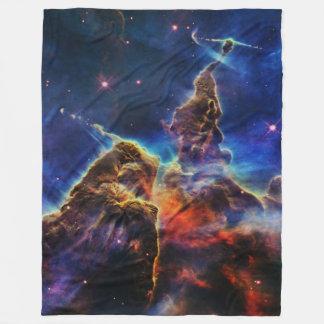 Mystic Mountain in Space NASA Fleece Blanket
