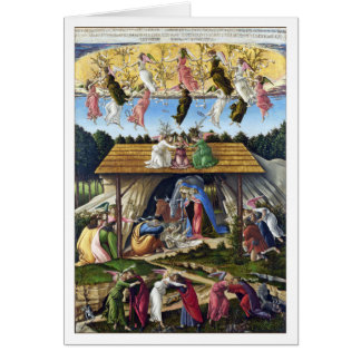 Mystic Nativity by Sandro Botticelli Card