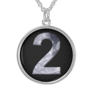 Mystic Number Lucky Two Moon Magic Mother Goddess Round Pendant Necklace