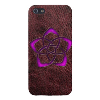 Mystic purple celtic knot flower case for the iPhone 5