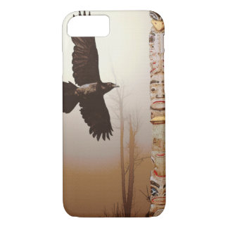 Mystic Raven & Haida Totem-Pole Crow-lover Art iPhone 7 Case
