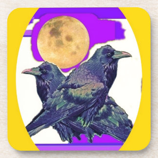 Mystic Raven Moon Gifts by Sharles Coaster