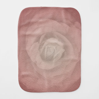Mystic Rose - Faded Vintage - Coral Shell Burp Cloth