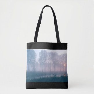 Mystic sunrise tote bag