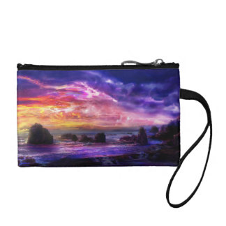 Mystic Sunset Clutch Coin Wallets