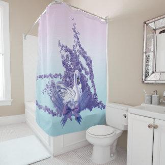 mystic swan shower curtain