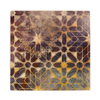 Mystic Tiles I Wood Coaster