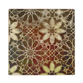 Mystic Tiles II Maple Wood Coaster