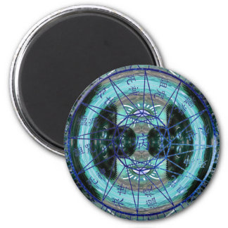 Mystic Time Circle 6 Cm Round Magnet