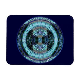 Mystic Time Circle Rectangular Magnet