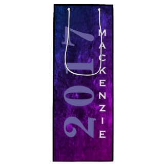 Mystic Topaz Graduate Purple Blue Pink Grad Party Wine Gift Bag