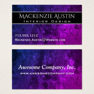 Mystic Topaz Modern Purple Blue Pink Jewel Tones Business Card