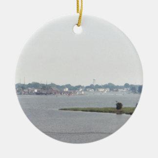Mystic view christmas ornament