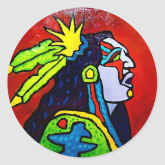 Mystic Warrior # 1 by Piliero Classic Round Sticker