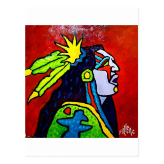 Mystic Warrior # 1 by Piliero Postcard