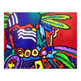 Mystic Warrior # 46 by Piliero 11 Cm X 14 Cm Invitation Card