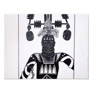 Mystic Warrior 4 by Piliero 11 Cm X 14 Cm Invitation Card