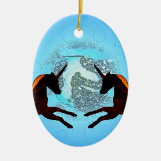 Mystic Winged Horse Unicorn Flying Pegasus 2 Christmas Ornament