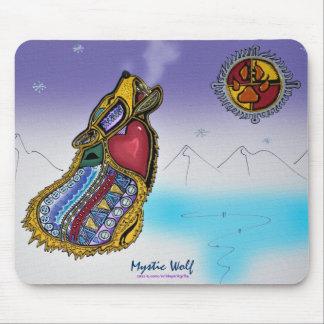 Mystic Wolf Ojibwe-style Art Mousepad Mousepad