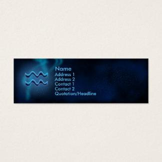 Mystic Zodiac - Aquarius Mini Business Card