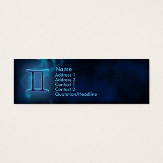 Mystic Zodiac - Gemini Mini Business Card