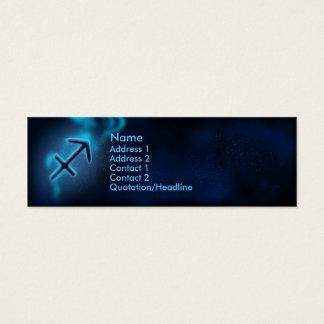 Mystic Zodiac - Sagittarius Mini Business Card