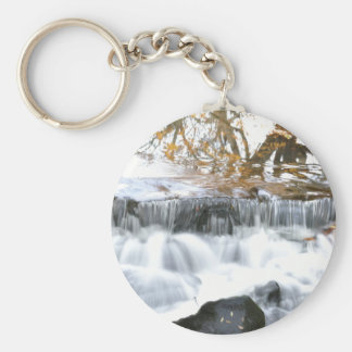 Mystical Babbling brook Basic Round Button Key Ring