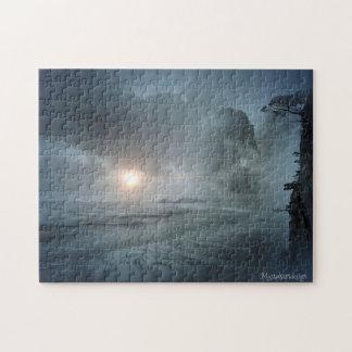 Mystical Beach Scenic View Artwork Puzzle