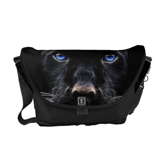 Mystical Blue Eyed Cat Messenger Bag
