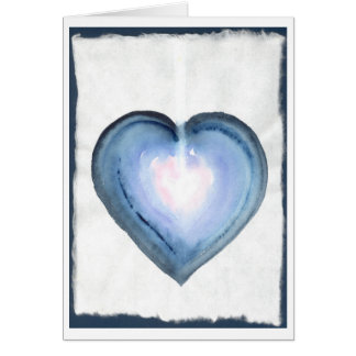 Mystical Blue Heart Greeting Cards