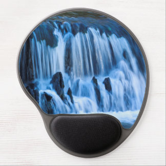 Mystical Blue Waterfall Gel Mouse Pad
