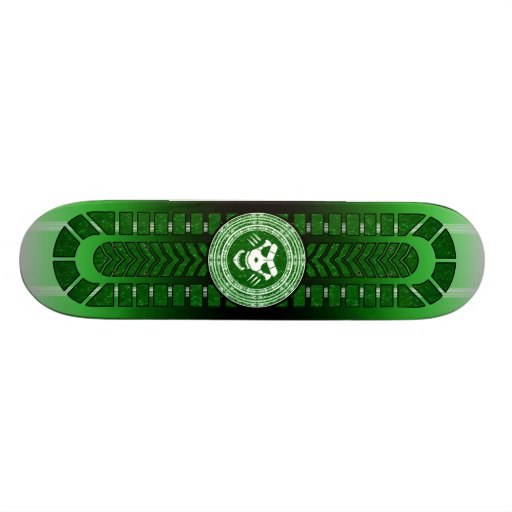 Mystical Board with Magical Circle and Skull Skateboards