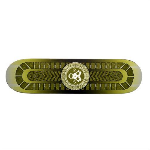 Mystical Board with Magical Circle and Skull Skate Board Deck