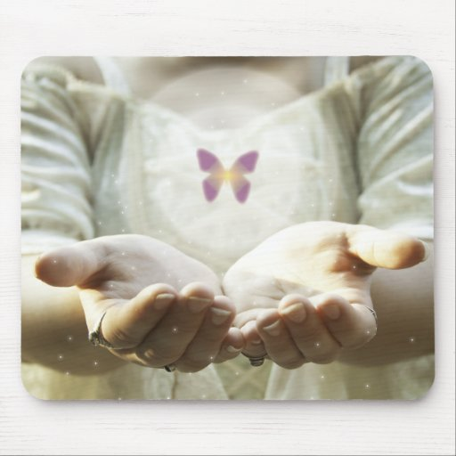 Mystical Butterfly Mouse Pads