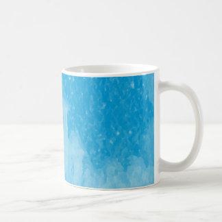 Mystical Castle Baby Blue Snowy Night Basic White Mug