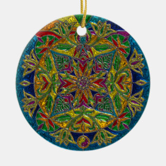 Mystical Colorful Mandala Christmas Ornament