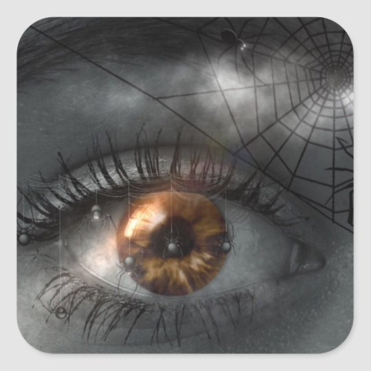Mystical Eye and Spiderweb Halloween Sticker
