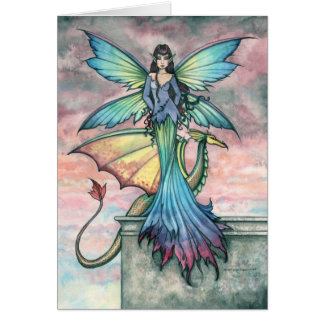 Mystical Fairy Dragon Card Notecard